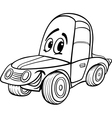 car cartoon for coloring book vector image