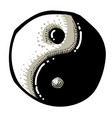 cartoon image of ying yang icon vector image vector image