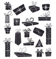 christmas holiday gifts flat design gift box vector image