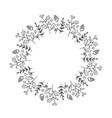 christmas monoline wreath with cone vector image vector image