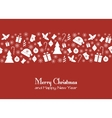 Christmas red greeting card vector image vector image