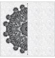 Circle grey lace ornament round ornamental vector image vector image