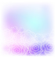 colorful purple rose flower background for wedding vector image vector image