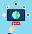 Concept for charity online service Medical vector image