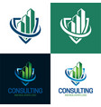consulting and real estate logo vector image vector image