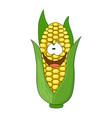 cute cartoon corn isolated on vector image