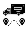 delivery truck glyph icon cargo shipping lorry vector image vector image