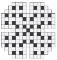 Empty crossword puzzle vector image