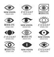 Eye see vision media logos set vector image