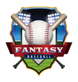 Fantasy Baseball Badge vector image vector image