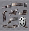 film stripes transparent set vector image vector image