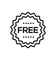 free sign - line design single isolated icon vector image vector image