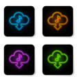 glowing neon cloud download music icon isolated vector image vector image