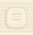 Gold Vintage Invitation and Greeting Card vector image