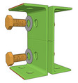 green lever on white background vector image vector image