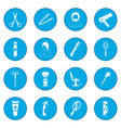 hairdressing icon blue vector image vector image
