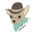 Hand drawn of hipster dog for cards t-shirt print vector image vector image