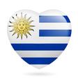 Heart icon of Uruguay vector image vector image