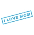 I Love Mom Rubber Stamp vector image vector image