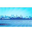 Istanbul Skyline city skyline detailed silhouette vector image vector image