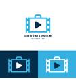 job video reel film logo icon download vector image vector image
