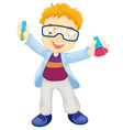 Kid scientist vector image vector image