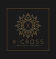 letter x logo with classic and luxurious line art vector image vector image