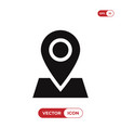 location on map icon vector image vector image