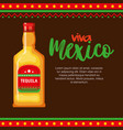 mexican tequila bottle icon vector image vector image