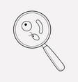 microbes icon line element of vector image