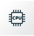 microprocessor outline symbol premium quality vector image vector image