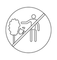 Not to throw garbage icon outline style vector image vector image
