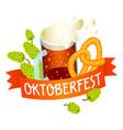 oktoberfest logo isometric style vector image