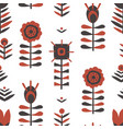 paper cut scandinavian pattern vector image