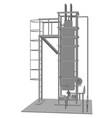 petroleum gas installation tracing vector image vector image