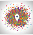 pin made by colorful dots vector image