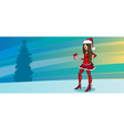 Pretty girl as santa greeting card