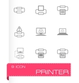 printer icon set vector image vector image