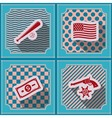 Seamless background with usa icons