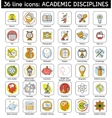 Set of academic disciplines icons vector image
