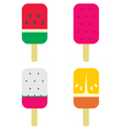 Set of fruity popsicles vector image vector image