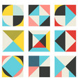 set trendy geometric elements memphis cards vector image
