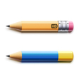 sharpened detailed pencils vector image