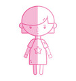 silhouette tender girl child with pijama and vector image vector image