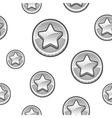 Silver coins background vector image vector image