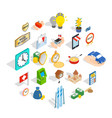 specie icons set isometric style vector image