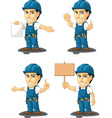 Technician or Repairman Mascot 12 vector image