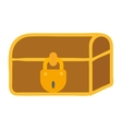 Treasure chest icon vector image vector image