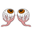 two eyes vector image vector image