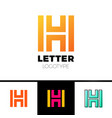 unusual geometric letter h architecture logo vector image